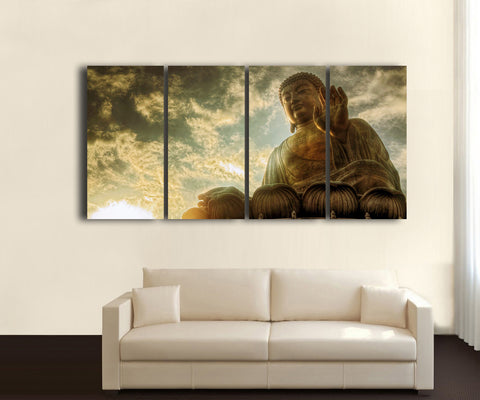 HD Printed Buddha - Religion 4 Pieces Canvas D