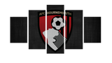 HD Printed A.F.C. Bournemouth Logo 5 Pieces Canvas