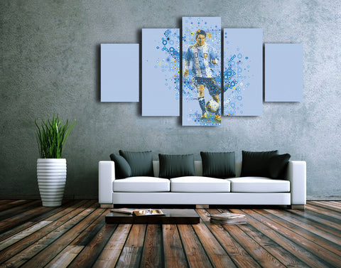 HD Printed Football Vector Art - Sports 5 Pieces Canvas A