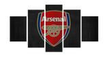 HD Printed Arsenal Logo 5 Pieces Canvas