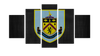 HD Printed Burnley Football Club Logo 5 Pieces Canvas