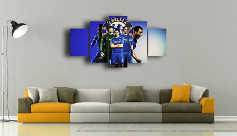 HD Printed Chelsea F.C - Sports 5 Pieces Canvas A