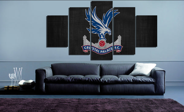HD Printed Crystal Palace FC Logo 5 Pieces Canvas