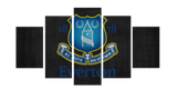 HD Printed Everton FC Logo 5 Pieces Canvas