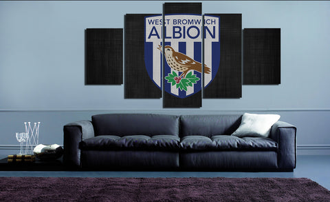 HD Printed West Bromwich Albion Logo 5 Pieces Canvas