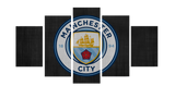 HD Printed Manchester City Logo 5 Pieces Canvas