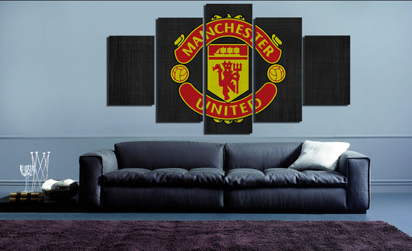 HD Printed Manchester United Logo 5 Pieces Canvas A