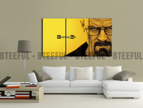 HD Printed Breaking Bad - Movies 3 Pieces Canvas B