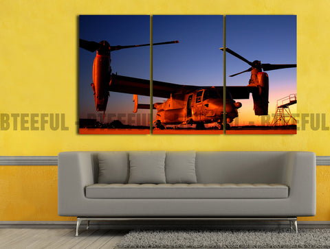 HD Printed Airplane - Landscape 3 Pieces Canvas K