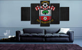 HD Printed Southampton FC Logo 5 Pieces Canvas