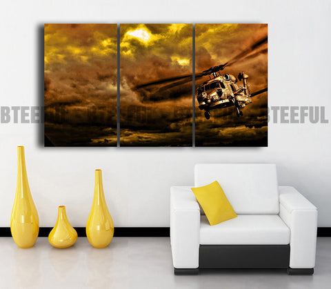 HD Printed Airplane - Landscape 3 Pieces Canvas N