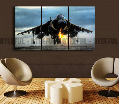 HD Printed Airplane - Landscape 3 Pieces Canvas O