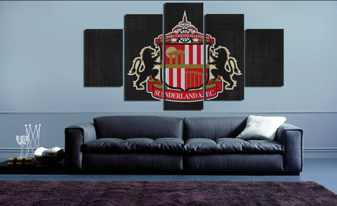 HD Printed Sunderland FC Logo 5 Pieces Canvas