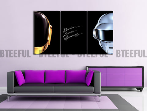 HD Printed Daft Punk - Music 3 Pieces Canvas A