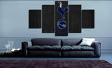 HD Printed Tottenham Hotspur Logo 5 Pieces Canvas