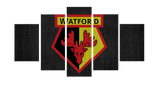 HD Printed Watford FC Logo 5 Pieces Canvas