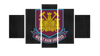 HD Printed West Ham United FC Logo 5 Pieces Canvas