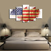 HD Printed American Flag 5 Pieces Canvas D