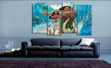HD Printed Moana 4 Pieces Canvas D