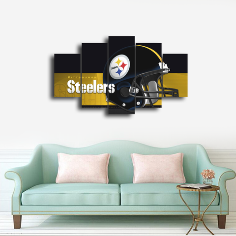 HD Printed Pittsburgh Steelers Football Helmet 5 Pieces Canvas