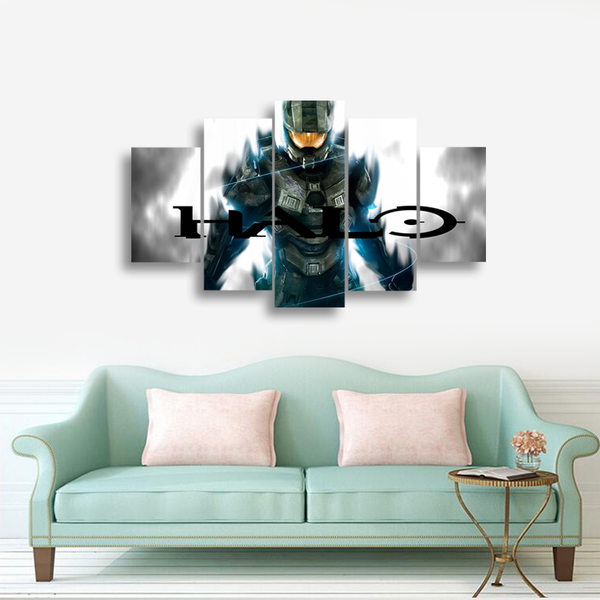 HD Printed Xbox Halo Games 5 Pieces Canvas
