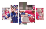 HD Printed Jose Bautista Fighting 5 Pieces Canvas