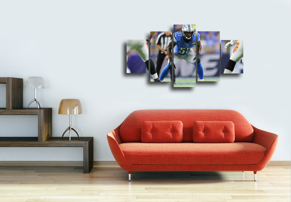 HD Printed Gridiron Football Player 5 Pieces Canvas