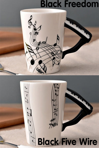 PIANO CERAMIC MUG MUSIC PORCELAIN CUP