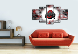 HD Printed Ohio State Football 5 Pieces Canvas