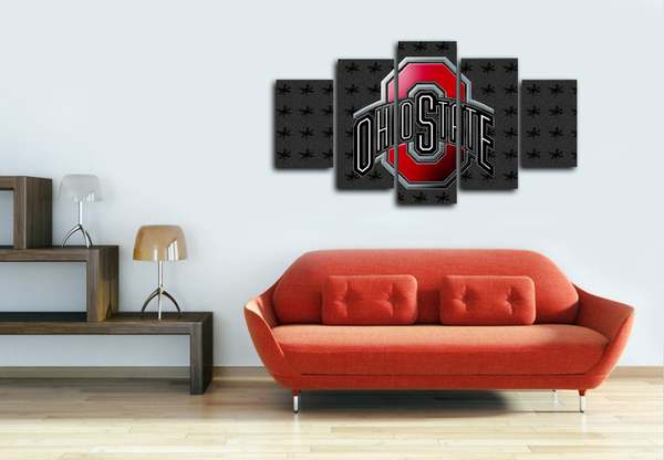 HD Printed Ohio State Football Logo 5 Pieces Canvas