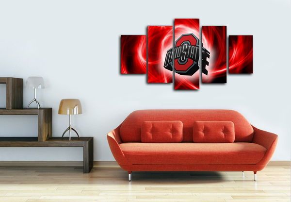 HD Printed Ohio State American Football Logo 5 Pieces Canvas
