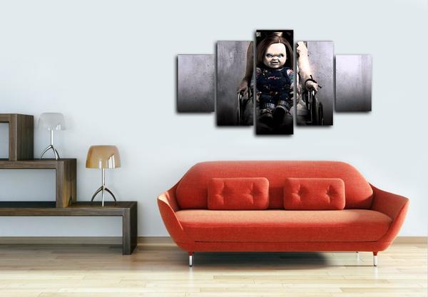 HD Printed Chucky Horror 5 Pieces Canvas