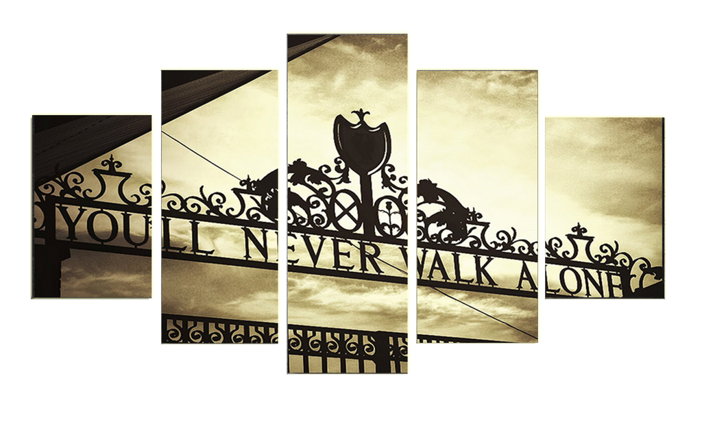 Image is loading shankly gates liverpool 5 piece canvas framed printed