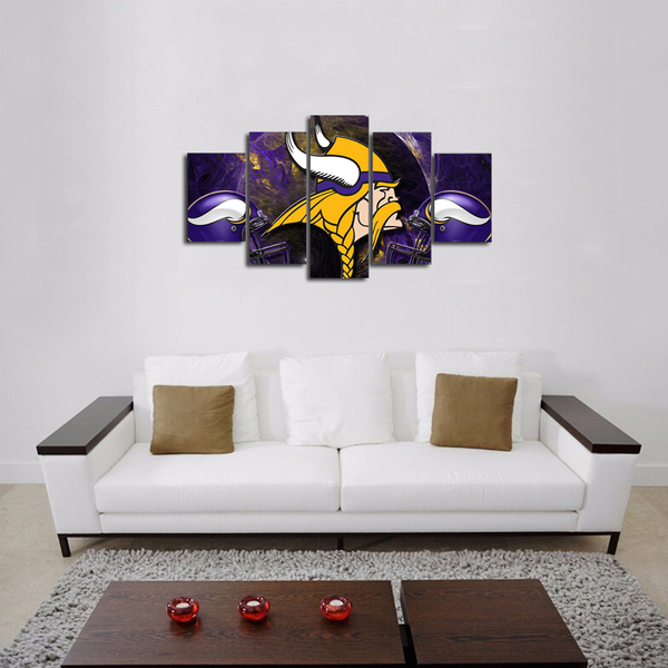 HD Printed Minnesotta Vikings Football 5 Pieces Canvas