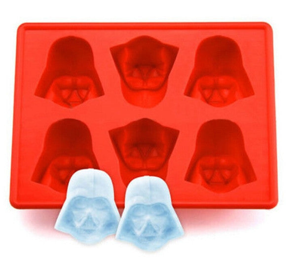New Creative Silicone Star Wars Darth Vader Ice Cube Tray Mold Cookies Chocolate Soap Baking Kitchen Tool