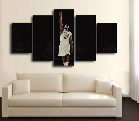 HD Printed Kobe Bryant USA Team 5 Pieces Canvas