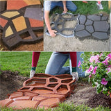 DIY Pavement Mould Driveway Path and Garden Stone Walk Maker Mould