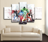 HD Printed Avengers Team Art 5 Piece Canvas