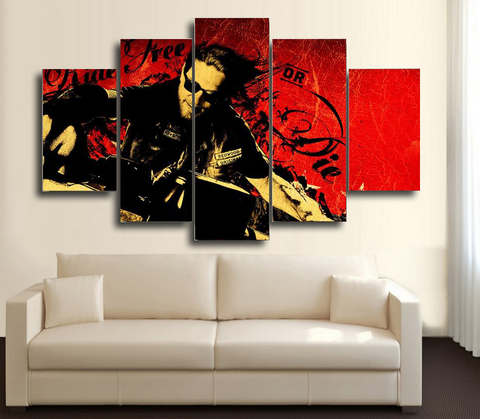 HD Printed Sons of Anarchy - Jax Teller 5 Piece Canvas
