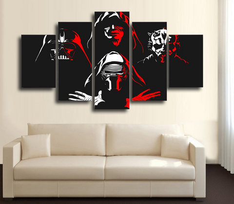 HD Printed Star Wars - Darth Maul 5 Piece Canvas