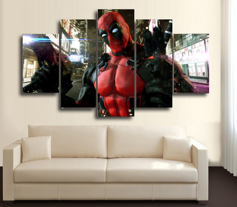 HD Printed DeadPool 2 5 Piece Canvas