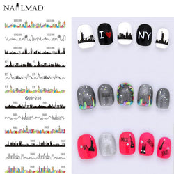1 Sheet Nightscape Nail Art Water Decals DS268
