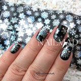 1 roll 4*100cm Holographic Snowflake Nail Foils Snow Christmas Design