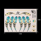 1 sheet Feather Temporary Tattoo Waterproof Tattoo