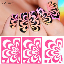 1 sheet Watermarble Nail Vinyls Nail Art Stencil Stickers
