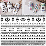 1 sheet Black Aztec Nail Art Stickers Adhesive Sticker