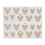 1 Sheet Dreamcatcher Nail Stickers Gold Dream Catcher Adhesive Sticker