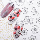 Nail Art Adhesive Stickers - Fading Flower