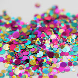 Round Glitter Mixes Holo Glitter Sequins - 1+2+3mm Mixed