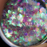 Nail Art Glitter Mix Star Heart Hexagon Acrylic Glitters